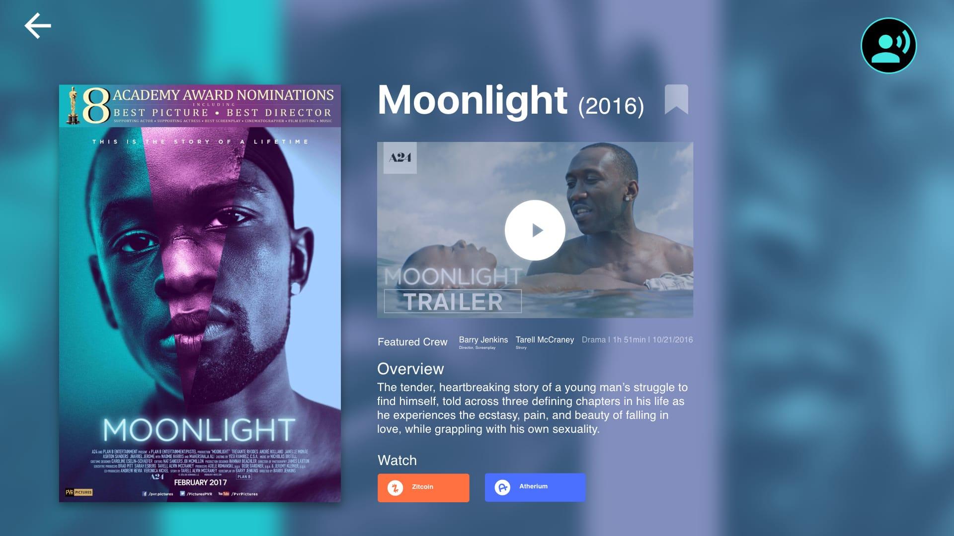 Movie Preview UI Screens